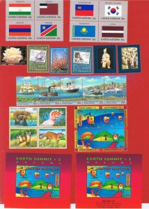 UN NY #690-717  MVFLH OG  1997 complete set  w/blocks & SS's  Free S/H