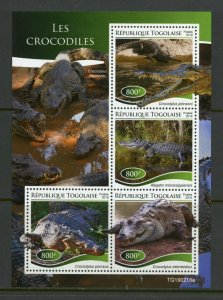 TOGO 2019 CROCODILES  SHEET MINT NEVER HINGED