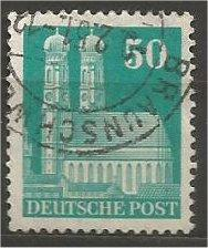 GERMANY, 1948, used 50pf bluish green, Munich Scott 653a
