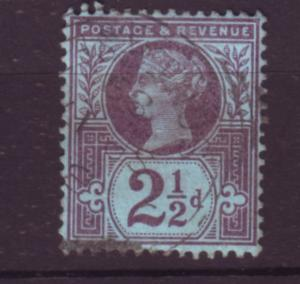 J19752 Jlstamps 1887-92 great britain used #114 queen