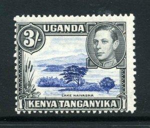 KUT 1938 KGVI 3/- perf 13x11¾ SG 147 dull ultra + black mint