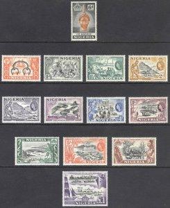 Nigeria 1953 1/2d-£1 QEII Pictorial SG 69-80 Scott 80-91 VLMM/MVLH Cat £75($100)
