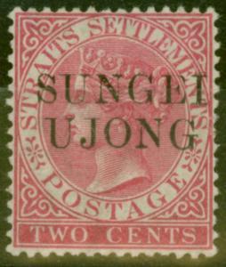 Sungei Ujong 1890 2c Brt Rose SG45 Good Mtd Mint