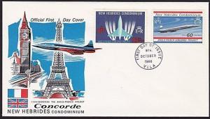 NEW HEBRIDES 1968 Concorde FDC.............................................68418