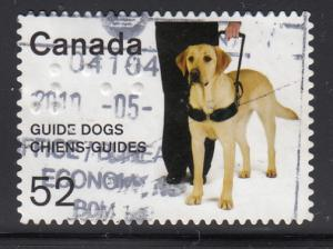 Canada 2008 used Scott #2266 52c Guide dogs with Braille '52'