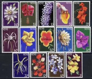 Nevis 1984 Flowers definitive set complete 14 values each...