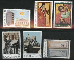 GREECE Scott 1410-15  MNH** 1981 set