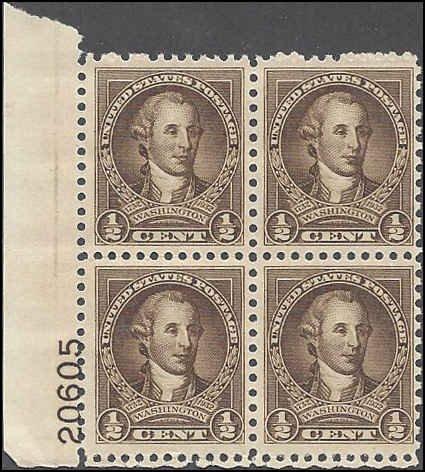 704 Mint,OG,NH... Plate Block of 4... SCV $10.00