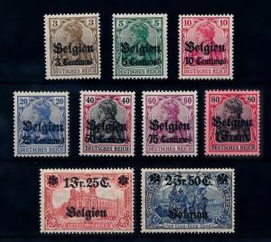 [69174] Belgium 1914 German Occupation of Belgium Original Gum MNH