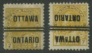 CANADA PRECANCEL OTTAWA 1-113, 1-113-I