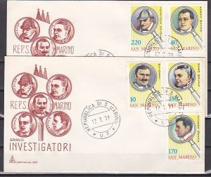 San Marino, Scott cat. 949-953. Fictional Detectives issue. 2 First day cover. ^