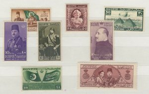 Egypt 1938/45 Collection of 8 Values Mint MNH J6418