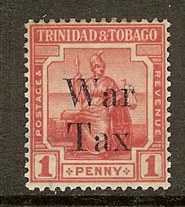 Trinidad & Tobago, Scott #MR13, 1p War Tax, Fine Ctr, MH
