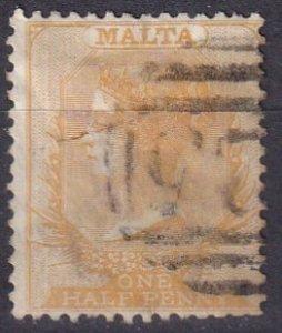 Malta #3a F-VF Used  CV $80.00  (Z1635)