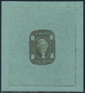 #67-E2c DIE ESSAY OLIVE GREEN ON GREEN BOND BS9914
