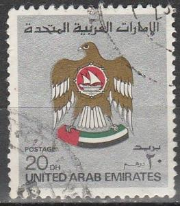 UAE #156 F-VF Used CV $13.50 (D1913)