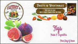 20-158, 2020, SC 5493, Fruits & Vegetables, FDC, Digital Color Postmark, Figs