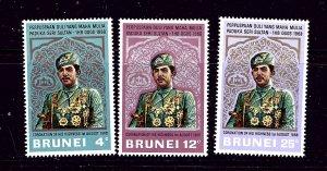 Brunei 141-43 MNH 1968 complete set