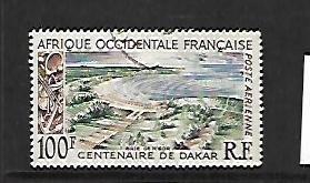 FRENCH WEST AFRICA, C27, USED, CENTENARY OF DAKAR