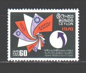 Sri Lanka. 1970. 399. Asian Year of Industry. MNH.
