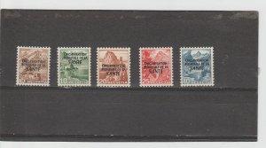 Switzerland  Scott#  5O1-5O5  MH  (1948 WHO Overprinted)