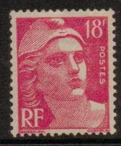FRANCE SG1007e 1945 18f RED MOUNTED MINT