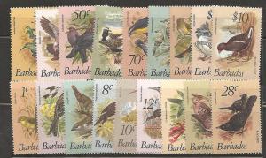 Barbados SC  495-511 MNH