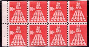 US Stamp #C72 Booklet Pane of 8 MINT NH SCV $2.25