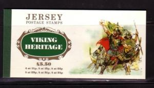 Jersey  431a-436a 1987 Viking Heritge stamp booklet mint NH
