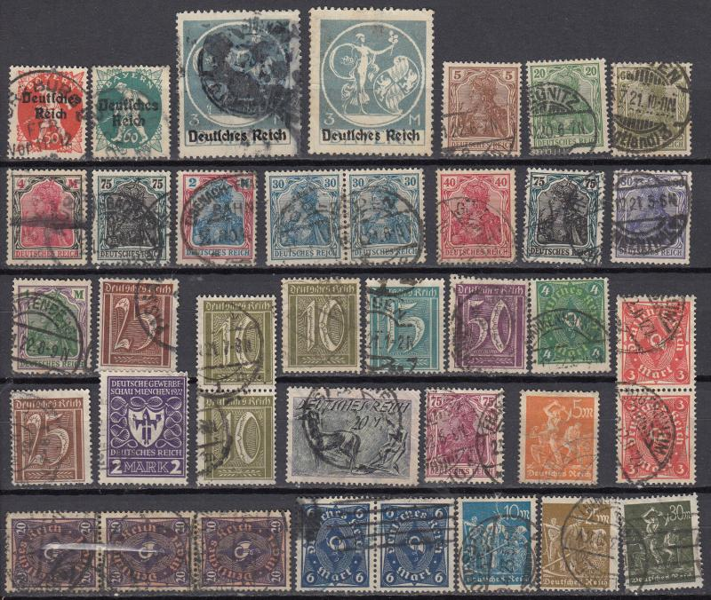Germany - 1921/1923 Inflation small stamp lot-2 - (972)