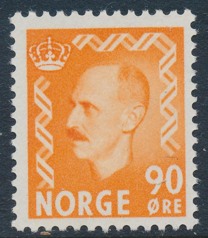 Norway Scott 352 (Facit 430), 90ø orange Haakon, FVF Mint NH
