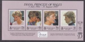 Virgin Islands # 878, Diana, Princess of Wales, Souvenir Sheet, NH 1/2 Cat.