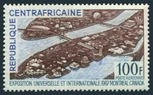 Central Africa C45,MNH.Michel 128. EXPO-1967,Montreal.View of EXPO,Bridge.