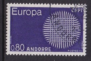 Andorra French    #197  cancelled  1970  Europa  80c