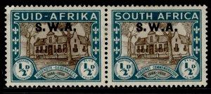 SOUTH WEST AFRICA GVI SG111, ½d + ½d brown & green, M MINT. Cat £14.