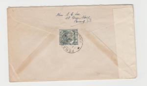 MALAYA STRAITS SETTLEMENTS -UK 1939 CENSOR COVER, 8c RATED (SEE BELOW)