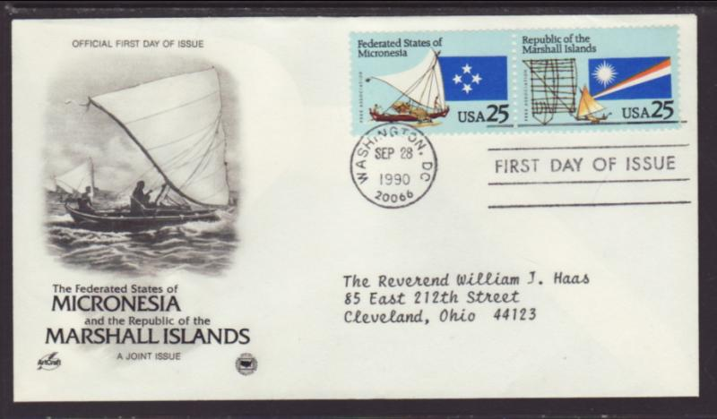 US Micronesia 1990 PCS Typed FDC BIN