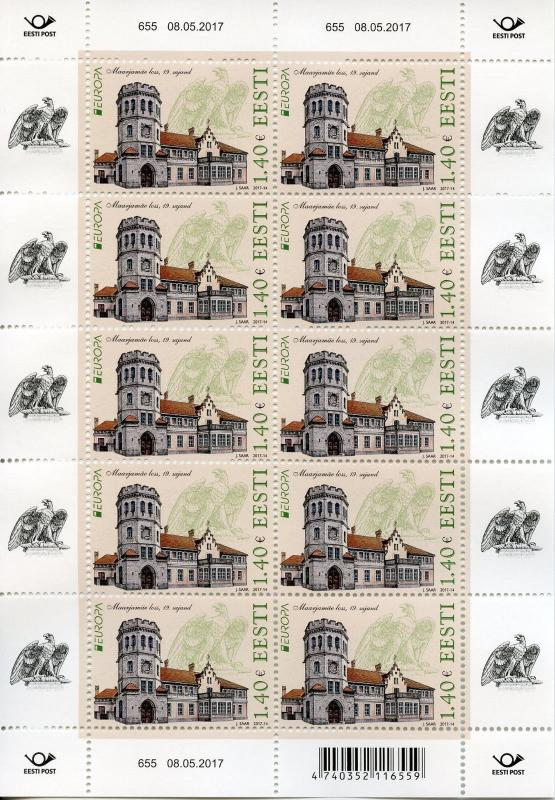 Estonia 2017 MNH Castles Europa Maarjamae Castle 10v M/S Architecture Stamps
