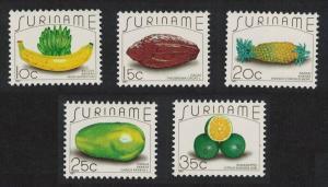 Suriname Fruits 5v SG#1334-1338