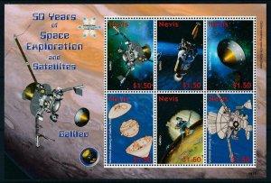 [107360] Nevis 2008 Space travel weltraum Galileo Sheet MNH