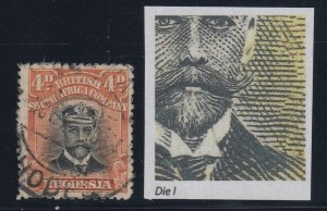 Rhodesia, SG 211a, used Waxed Moustache variety