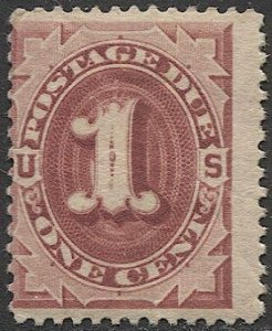 US Sc J22 1891 1c Postage Due, Mint NH, VG  cv $85 in VF condition