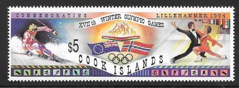 COOK ISLANDS SG1336 1994 WINTER OLYMPIC GAMES MNH