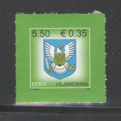 Estonia Sc 594 2008 Viljandimaa Arms stamp mint NH