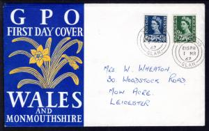 Great Britain Wales 4,6 Pen FDC