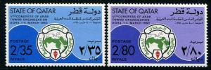 HERRICKSTAMP QATAR Sc.# 577-78 1980 Towns