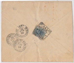 54832 - REGNO: UMBERTO I - STORIA POSTALE: BUSTA a BRAZIL Brasile 1897  25 Cent.