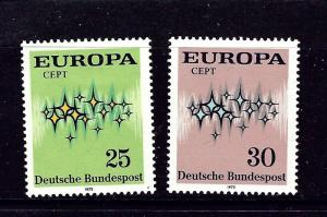Germany 1089-1090 MNH 1972 Europa