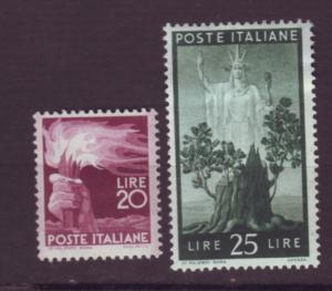 J20378  jlstamps 1945-7 italy mh #474-5 designs