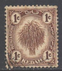 Malaya Kedah Scott 23 - SG26, 1921 Sheaf of Rice 1c used